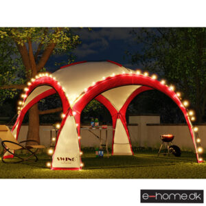 LED - Event pavillon - XXL - DomeShelter - Rød - 1034207854r - e-home_TITEL