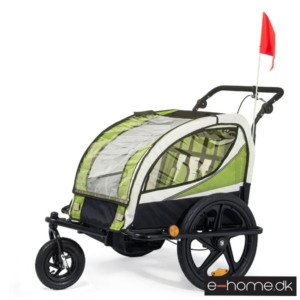 Cykeltrailer-jogger-Grøn-sort ramme-56650003E_e-home_TITEL
