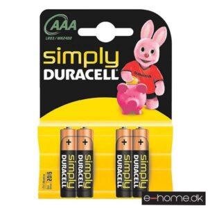 Duracell Simply Micro AAA 4stk_e-home_TITEL
